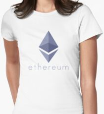 Ethereum Logo (with Text) Womens Fitted T-Shirt