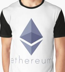 Ethereum Logo (with Text) Graphic T-Shirt