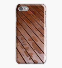 Beautiful mahogny hardwood floor iPhone Case/Skin