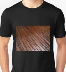Beautiful mahogny hardwood floor Unisex T-Shirt