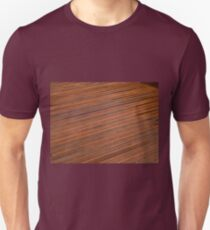 Beautiful mahogny hardwood deck floor Unisex T-Shirt
