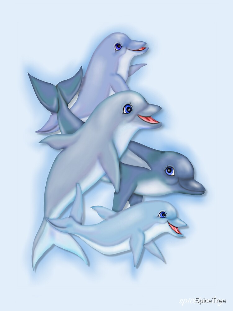 Dolphin Family by SpiceTree