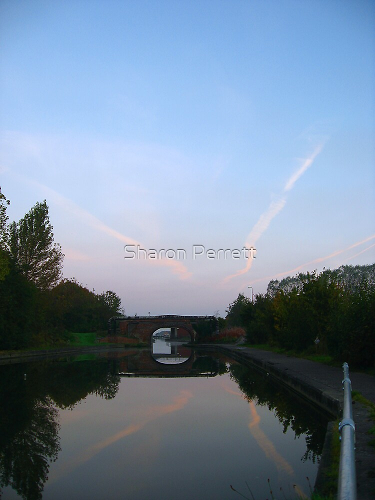 The Bridge by the canal (2) by Sharon Perrett