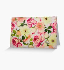 Pastel Roses and Daises  Greeting Card
