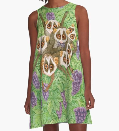 Monkey Loris Family A-Line Dress
