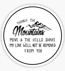 Isaiah 54:10 Sticker