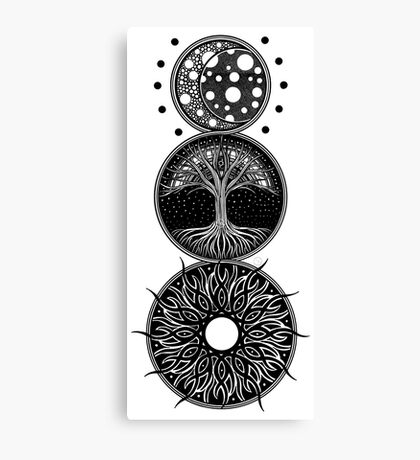 EP. MOON / LIFE / SUN Canvas Print