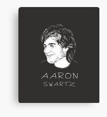 Aaron Swartz Tribute Art - Internet's Own Boy Canvas Print