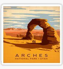 Arches National Park Utah Vintage Decal Sticker
