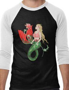 Waterlily Mermaid Men's Baseball ¾ T-Shirt