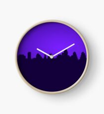 8-bit Retro City Clock