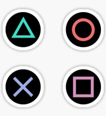 Play with Playstation Controller Buttons (Multicolor) Sticker