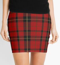 Red, black and yellow clan | Scottish tartan #home #lifestyle Mini Skirt