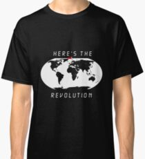 Heres the revolution - Flag in Denmark Classic T-Shirt