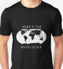 Heres the revolution - Flag in Denmark T-Shirt