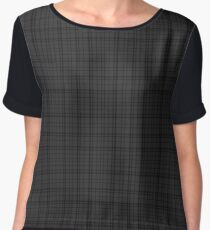 Black and Grey | Scottish Clan Tartan #home #lifestyle Women's Chiffon Top