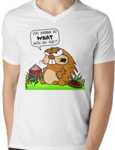 You Wanna Do What With My Fur?!?!?! Mens V-Neck T-Shirt