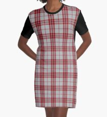 Red and White Mc Gregor Clan Scottish Tartan #home #lifestyle Graphic T-Shirt Dress