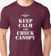 KEEP CALM AND CHECK CANOPY - PARACHUTE REGIMENT T-Shirt
