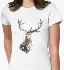 Painted Stag Women's Fitted T-Shirt