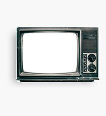 Old TV - Grunge Canvas Print