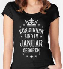 Königinnen sind werden im Januar geboren Geburtstag  Women's Fitted Scoop T-Shirt