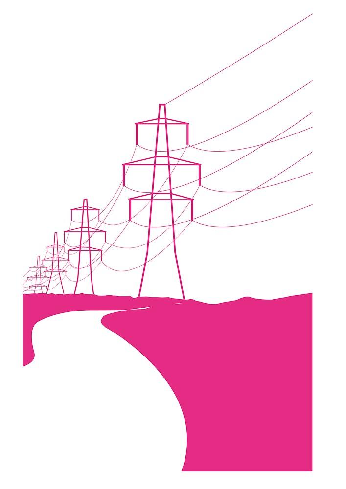 pink pylons by alikat