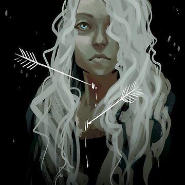 White Arrows by deepfriedpaint