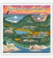 Acadia National Park Maine Vintage Decal Sticker