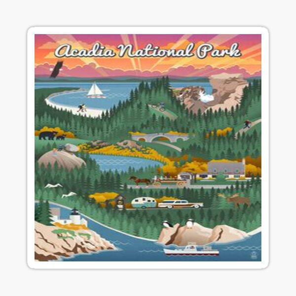 Acadia National Park Maine Vintage Decal Sticker