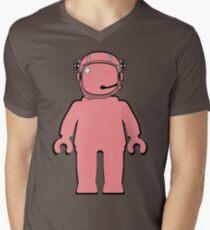 Banksy Style Astronaut Minifigure  Mens V-Neck T-Shirt