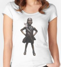 Fearless Girl Statue Women's Fitted Scoop T-Shirt