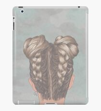 Braids and hair buns iPad Case/Skin