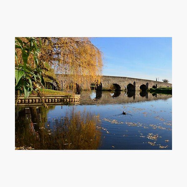 Bidford Bridge in Autumn Photographic Print