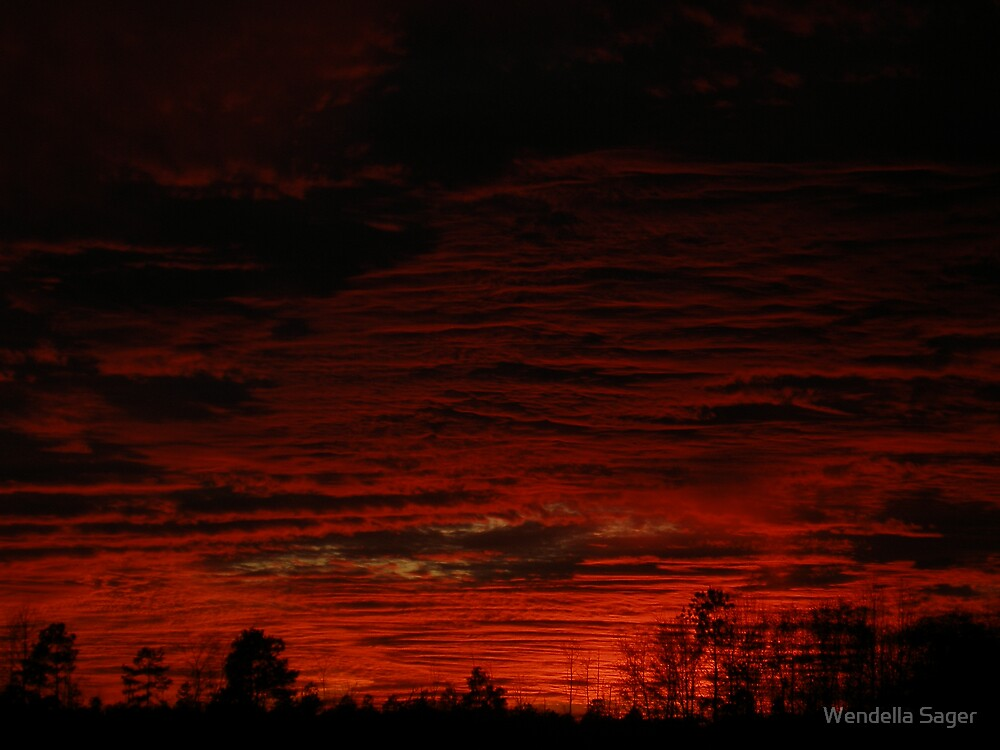 sunset fire  by Wendella Reeves