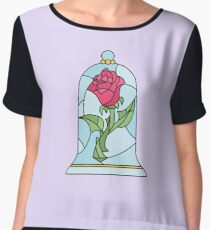 BEAUTY AND THE BEAST ROSE Women's Chiffon Top