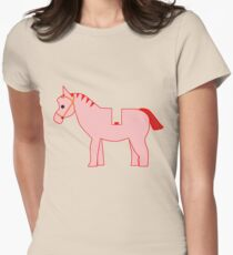 Interpretation of a Minifig Horse Womens Fitted T-Shirt