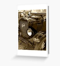 1924 Ford Model T Greeting Card