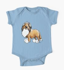 Fluffy Rough Collie One Piece - Short Sleeve