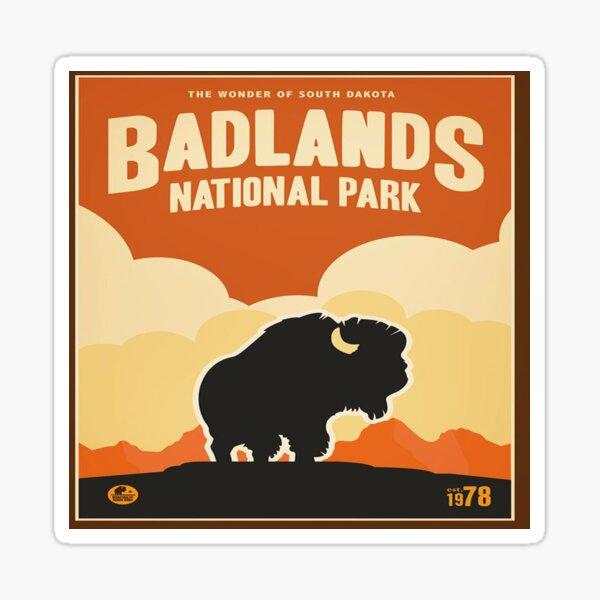 Badlands National Park Vintage Decal South Dakota Sticker
