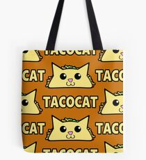 Taco Cat Pattern Tote Bag