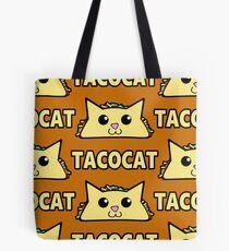 Taco Cat Pattern Tote Bag