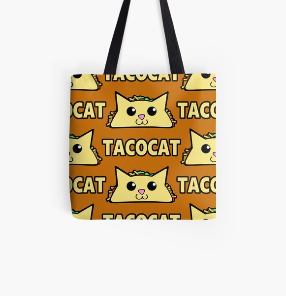 Taco Cat Pattern All Over Print Tote Bag