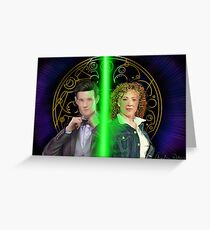 Doctor and River Greeting Card