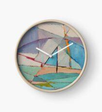 Abstract Boat Clock