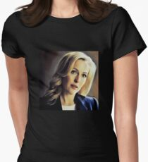 Stella Gibson oli color painting Womens Fitted T-Shirt