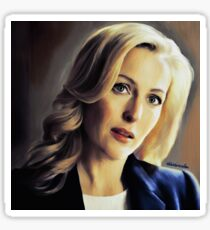 Stella Gibson oli color painting Sticker
