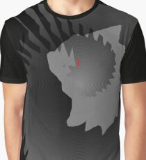 Machine fossil red eyes black dragon Graphic T-Shirt