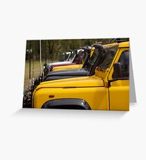 Land Rover Defenders Greeting Card