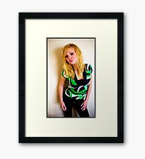 Sanna in green Framed Print